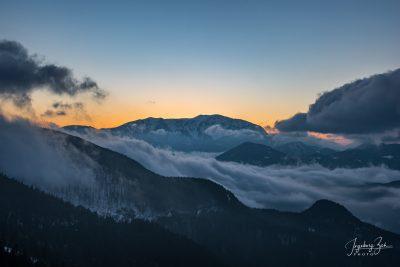 Abendstimmung Berg Wolken